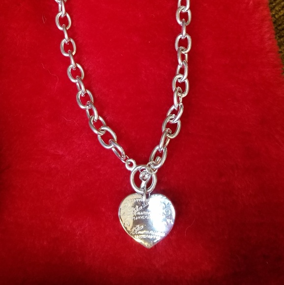cb1b6cbc8 Tiffany & Co. Jewelry | Tiffany Co Heart Tag Choker | Poshmark